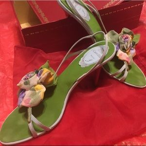 Rene Caovilla Flower Sandals